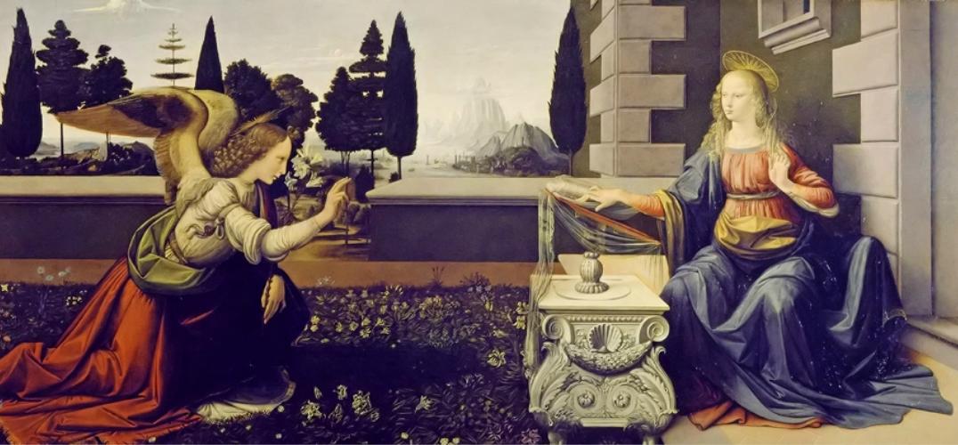 芬奇的两幅画板油画