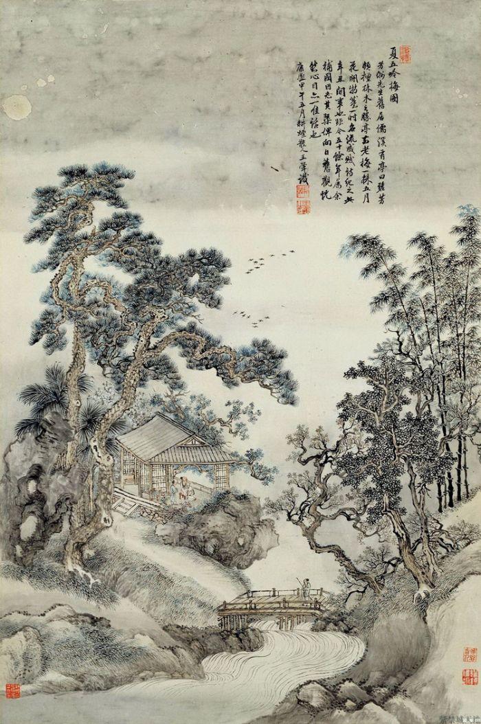 常熟虞山风景区绘画