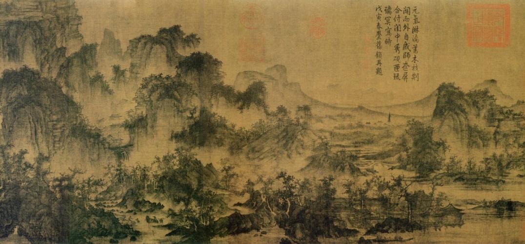 张择端的清明上河图西湖争标图王希孟的千里江山图