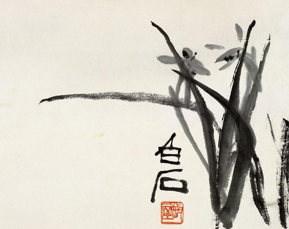 """齐白石国画兰花写意 那怎样才是写意画呢?而写意画又该怎样欣赏呢? 对于中国画来说,笔者认为,写意应该是包括写意笔墨和写意精神的结合。写意:一是写,二是意。骨法用笔便是写,也就是说,写意画首先要有扎实的写字能力和绘画基本功,要有工致的造型能力和相当的写实基础,而不是随意地乱涂鸦。清代画家郑板桥,在一则《题画》中说:""""徐文长画雪中竹子,纯以明代瘦笔破笔为主,绝不类竹,然后以淡墨、水勾染而出,枝间叶上,罔非积雪,竹之全体,在隐约间矣。今人画浓枝大叶略无破厥处,再加渲染,则雪与竹两不相入,成何画法?"""