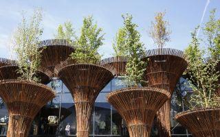 可再生竹木材料成米兰世博会建筑新风尚