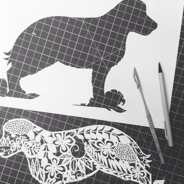 凤凰纸雕画步骤图