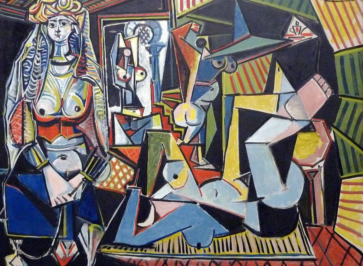 毕加索《阿尔及尔的女人》