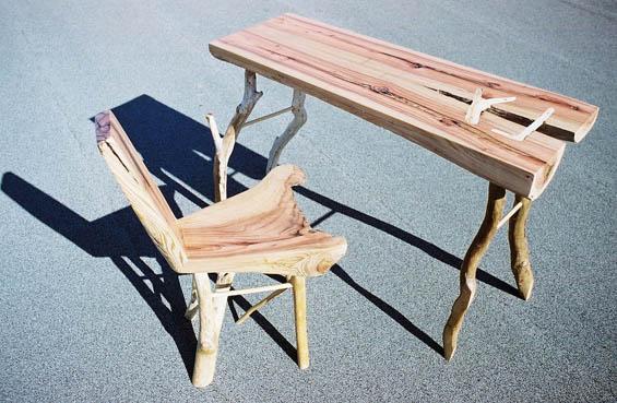 """英国设计师地里""""种出""""家具 让柳树沿着模型生长"""