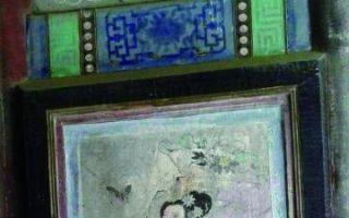 颐和园7幅廊头画遭涂鸦 荷花图被画上兔子
