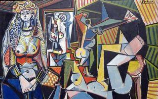 毕加索杰作《阿尔及尔的女人(O版)》被福克斯马赛克
