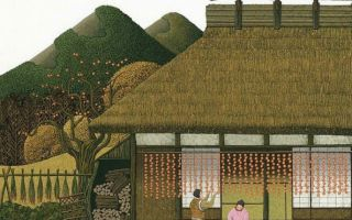 日本风情纸艺艺术作品