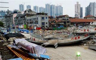武汉地铁工地挖出清代城墙 墙基百年后重见天日