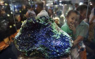 中国(湖南)国际矿物宝石博览会开幕 奇珍异宝聚郴州