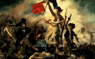 """""""自由引导人民""""中的自由女神为什么一定要袒胸露乳"""