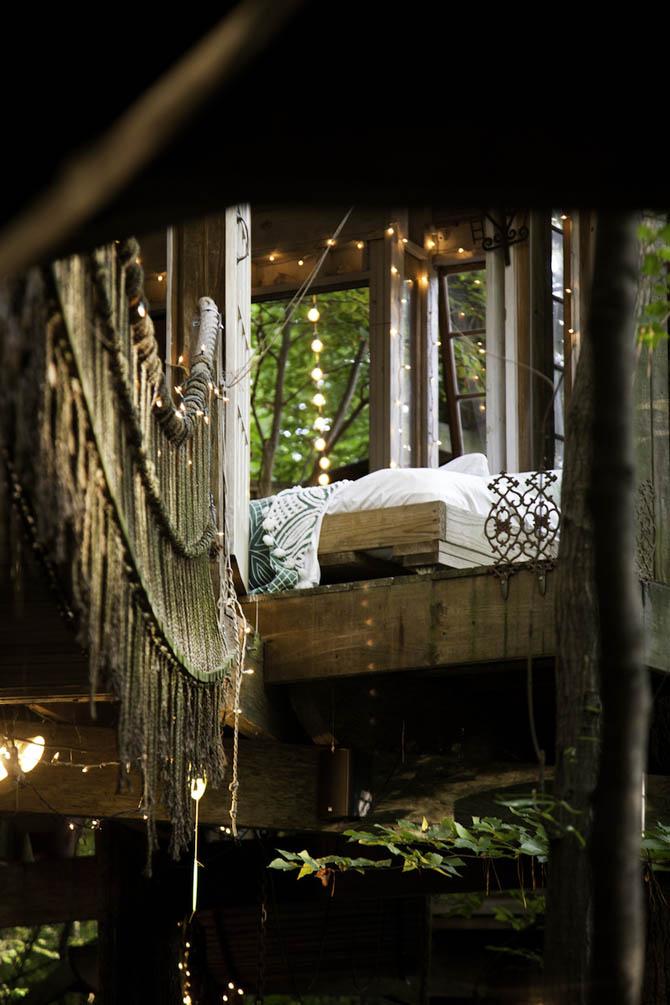 建筑师peter bahouth的浪漫森林树屋