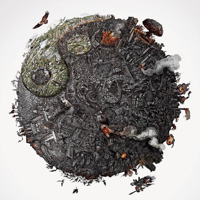 海报中的毁灭,环境污染与和平