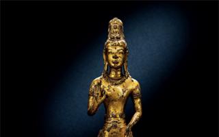 香港佳士得春拍:12世纪鎏金铜阿嵯耶观音立像以904万港元成交