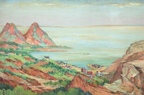 油画风景图片册