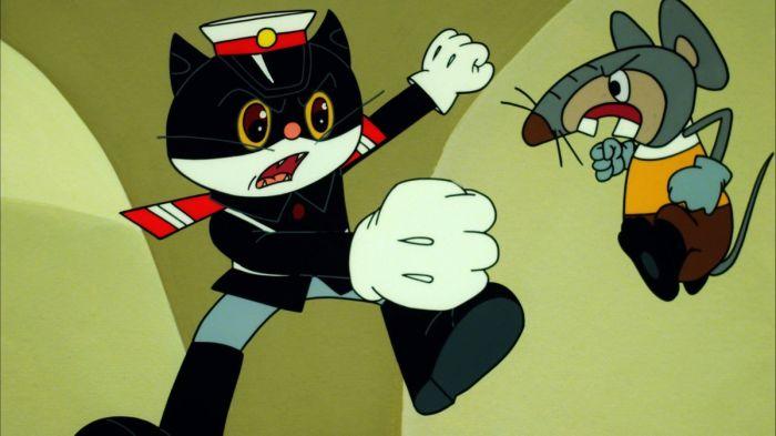 卡通手绘黑猫壁纸