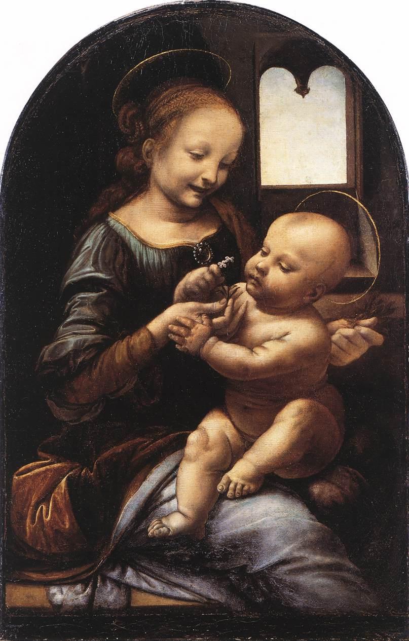 柏诺瓦的圣母 意大利 达芬奇 俄罗斯,圣彼得堡,艾米塔吉博物馆藏