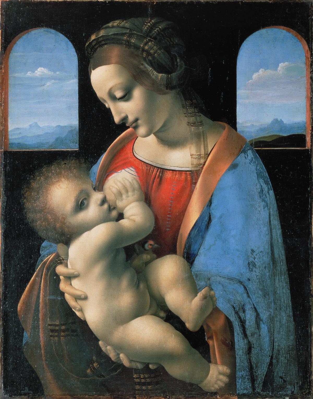 哺乳圣母 意大利 达芬奇 俄罗斯,圣彼得堡,艾米塔吉博物馆藏