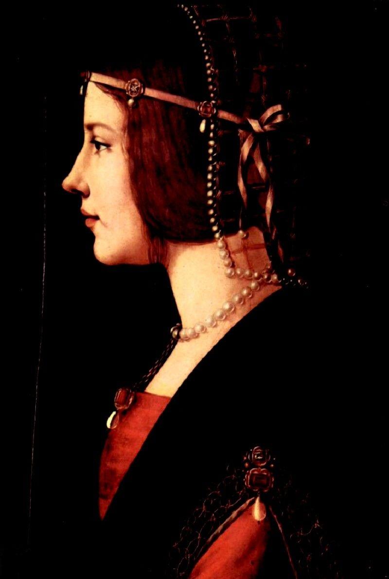 戴珍珠头饰的夫人像 意大利 达芬奇