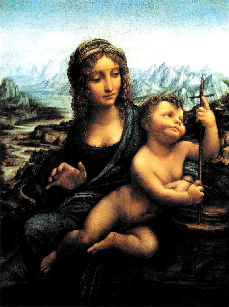 纺车边的圣母 意大利 达芬奇