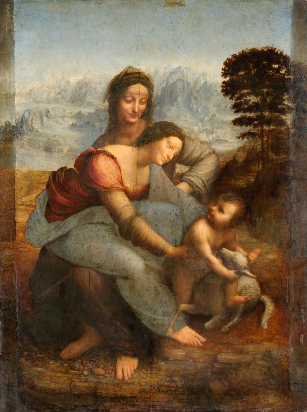 圣母子与圣安妮 意大利 达芬奇 法国,巴黎,卢浮宫藏