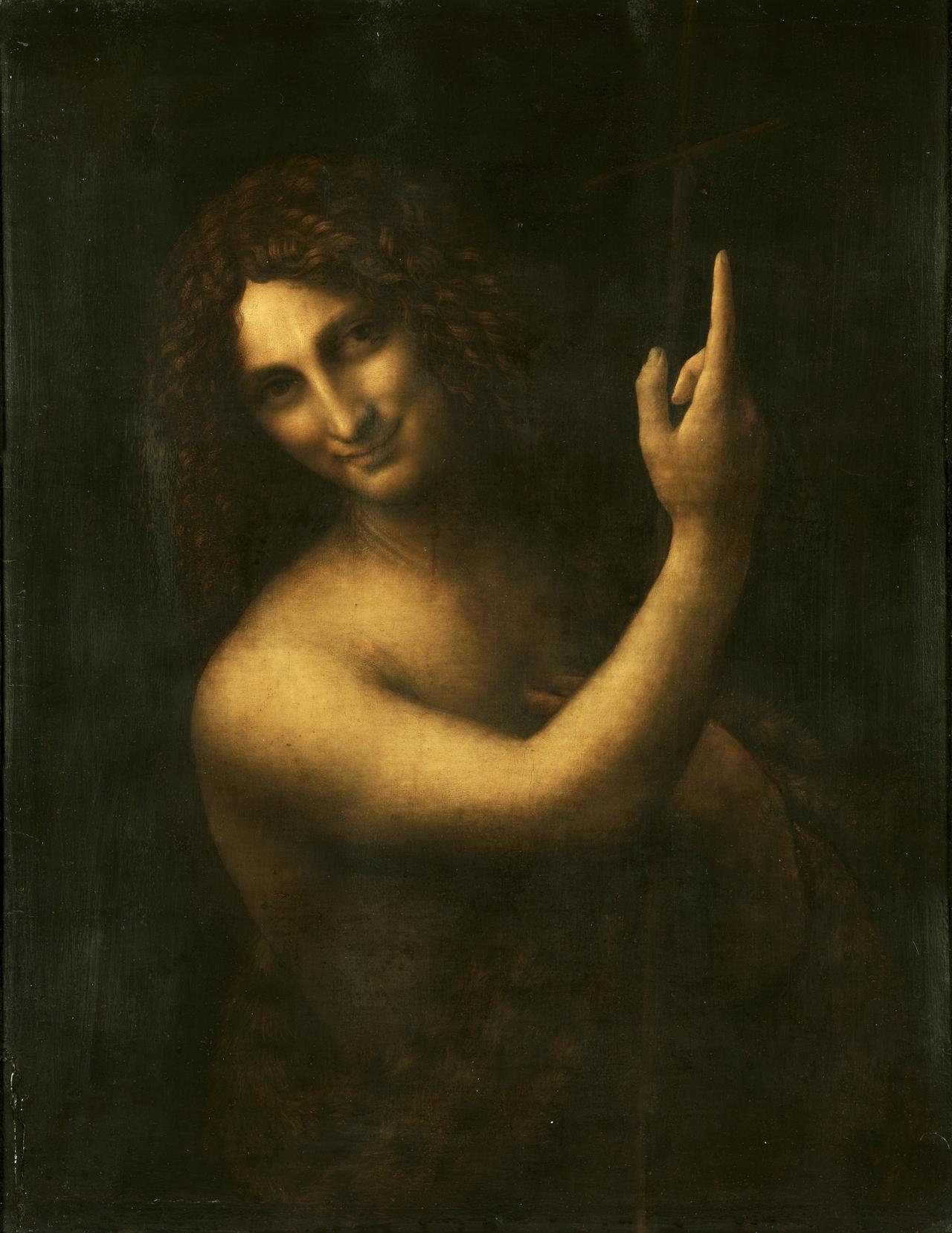 施洗者圣约翰 意大利 达芬奇 法国,巴黎,卢浮宫藏