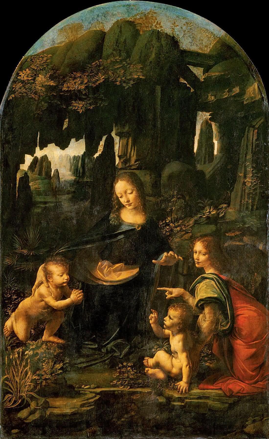 岩间圣母 意大利 达芬奇 法国,巴黎,卢浮宫藏
