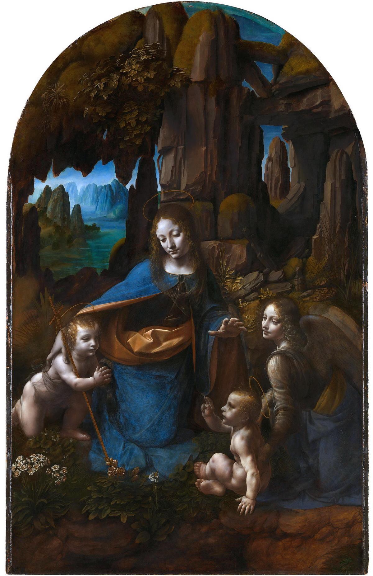 岩间圣母 意大利 达芬奇 英国国家美术馆藏