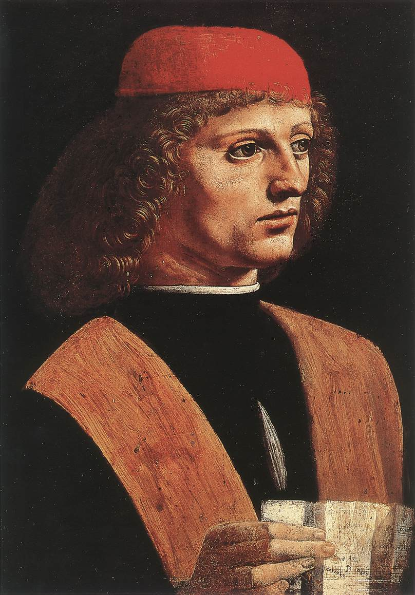 音乐家肖像 意大利 达芬奇 意大利,米兰,安波罗修美术馆藏