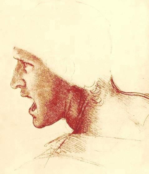 安吉里之战战士草图 达芬奇