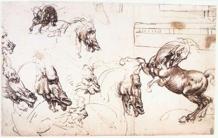 安吉里之战草图 达芬奇