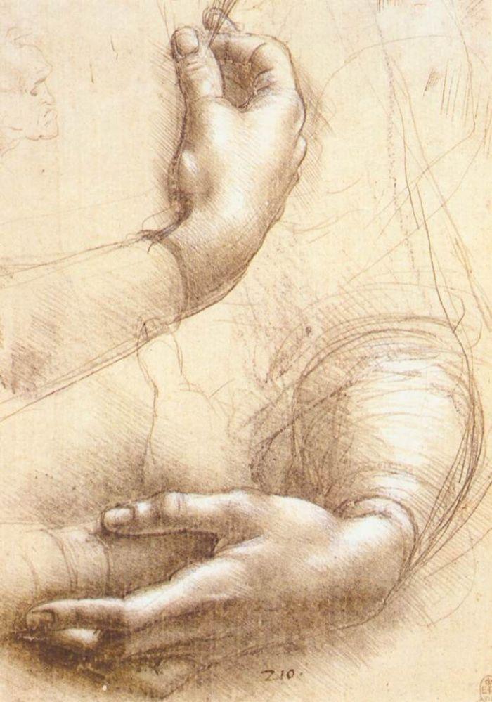 达芬奇手部素描