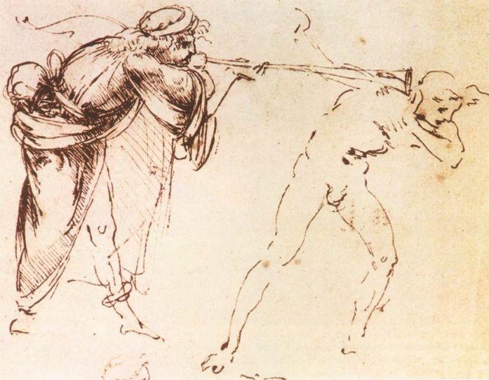 达芬奇素描草图
