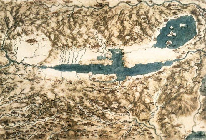 地形鸟瞰图 达芬奇