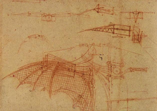 飞行机械设计草图 达芬奇3