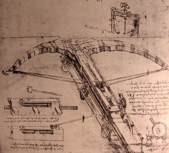 巨弩设计图 达芬奇