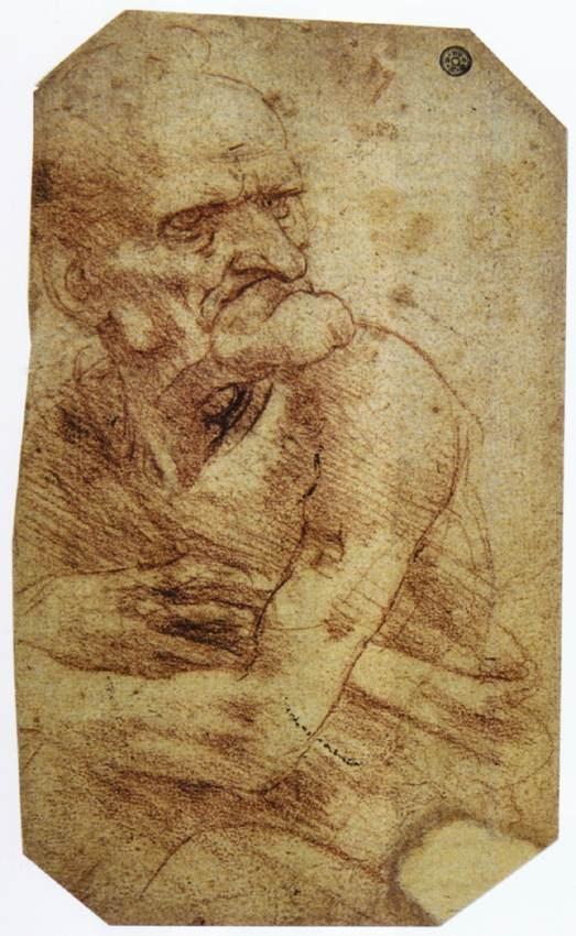 老人草图 达芬奇