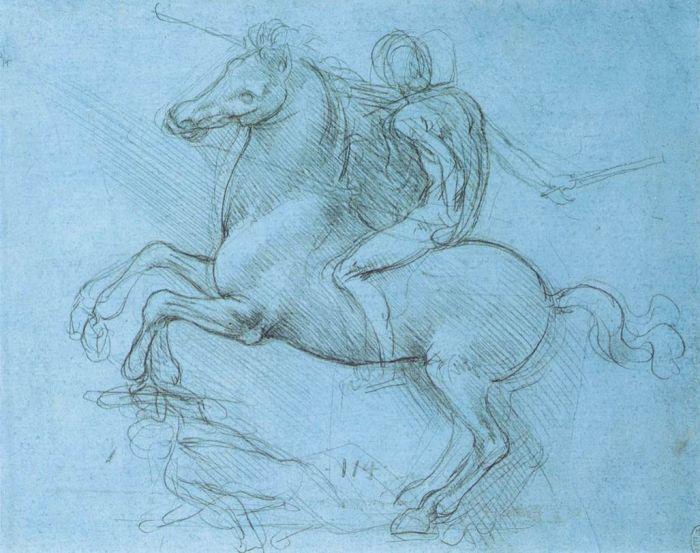 马术纪念碑设计草图 达芬奇