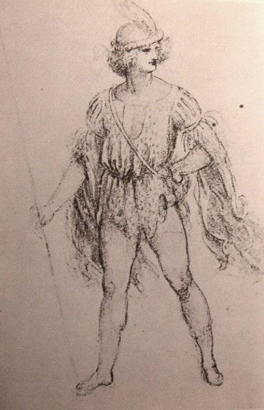 奇装异服的男子 达芬奇