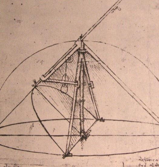抛物线圆规设计图 达芬奇