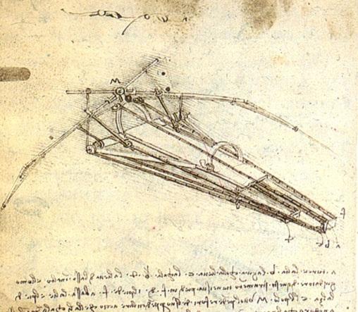 扑翼机设计草图 达芬奇