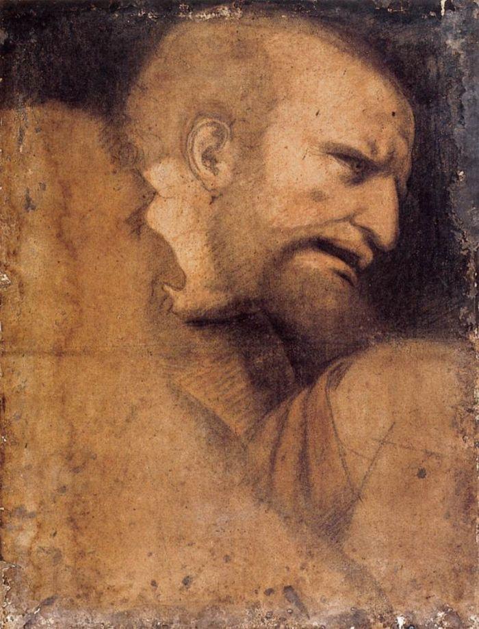 圣·彼得头像 达芬奇
