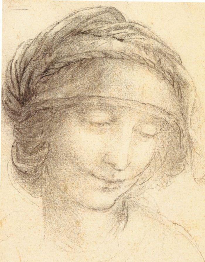圣安妮头像 达芬奇