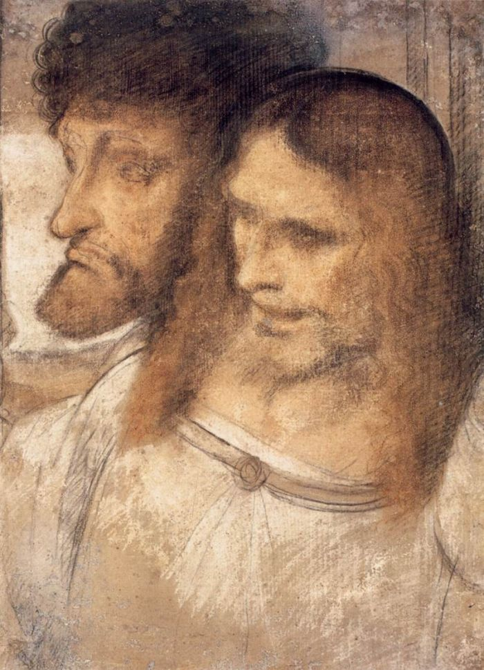 圣·托马斯和詹姆斯头像 达芬奇