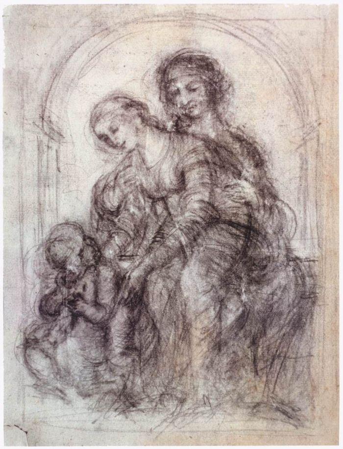 圣安妮草图 达芬奇