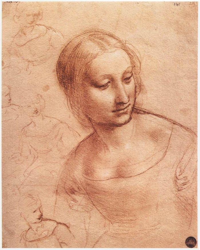 圣母像草图 达芬奇