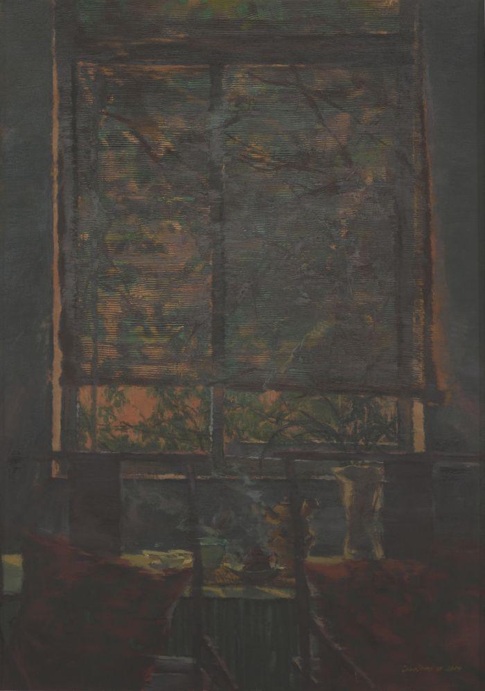 郭健濂窗雨162cm×114cm2014年