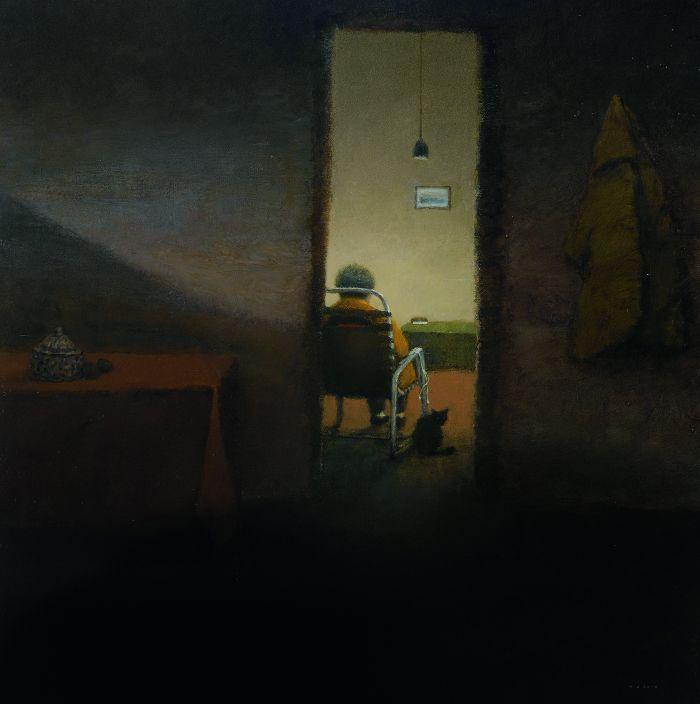 许永城 安静的房间—2号 150cm×150cm 2014年