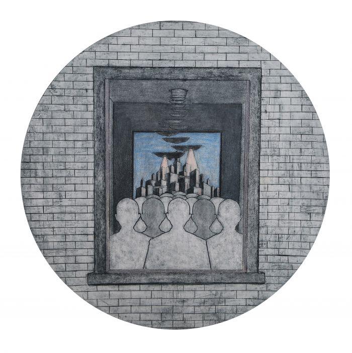 《 Golem》系列之五、综合版种、43_43cm2015年、袁亚威