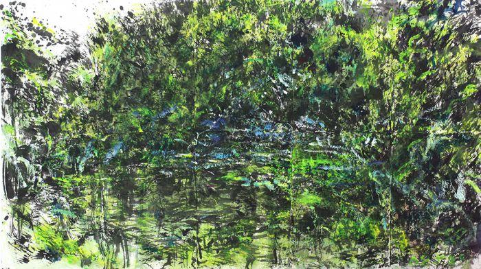 植物园风景系列之二-水墨丙烯