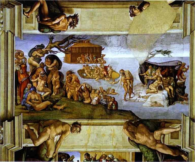 大洪水 意大利 米开朗基罗 天顶画 梵谛冈西斯廷教堂